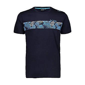 CMP T-Shirt 100% Cotton, Men's, Navy, 56