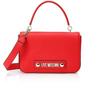 Love Moschino Soft Grain Pu Bag, Woman's Hand, Red (Red), 6x19x28 cm (W x H x L)