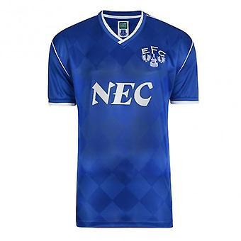 Everton 1987 Retro Football Shirt - Blue