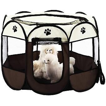 Faltbares Haustier Zelt 8-Panel Mesh Welpen HausLaufstall Hundehütte für Hunde Katze Kaninchen (73 *