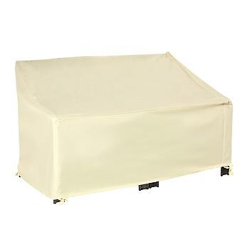 Outsunny Outdoor Furniture Cover 2 Seater Loveseat Protection Tough PVC Lining Wind Rain Dust UV Waterproof