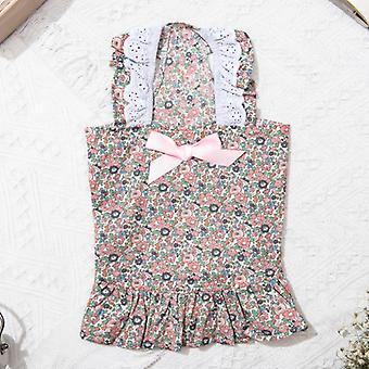 Pet cat skirt neckline lace floral
