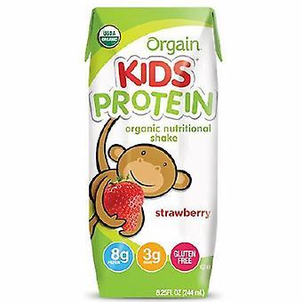 Orgain Kids Protein Organic Nutrition Shake, 8.25 Oz Strawberry