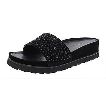 Donald J Pliner Womens Cava Suede Open Toe Casual Slide Sandals