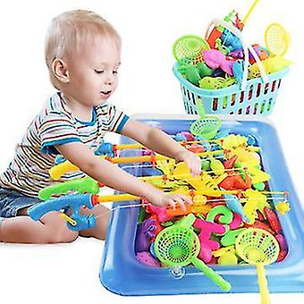80pcs magnetisk fiskeri legetøjssæt, Børns Strand Legetøj, Pool Party