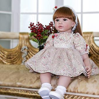 60cm生まれ変わったベベドールボネカ生まれ変わった幼児の女の子人形柔らかいシリコーン布ボディのような生き生きとしたベベ人形が生まれ変わった