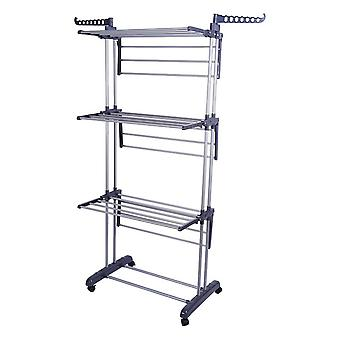 Foldable 3 Tier Clothes Airer Laundry Drying Hanger Rack Rail