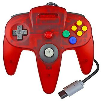 (Red) N64 Controller Game Remote Joystick Gamepad System Game Long Handle For Nintendo