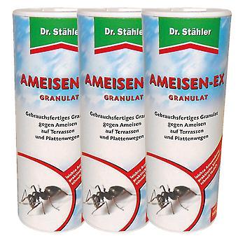 Sparset: 3 x DR. STÄHLER Ameisen-Ex Granulat, 500 g