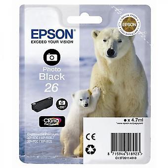 Epson T2611 Polar Bear Cartouche d'encre Noir Photo