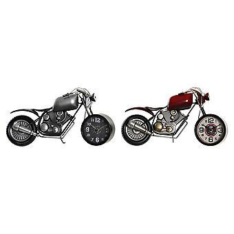 Asztali óra DKD Home Decor Motorcycle Iron (2 pcs) (44 x 13.5 x 23 cm)