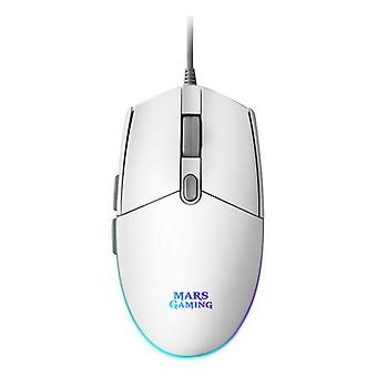 Gaming Mouse Mars Gaming MMG Blanco