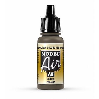 Vallejo Model Air 43 US Olive Drab - 17ml Peinture acrylique à l'aérographe