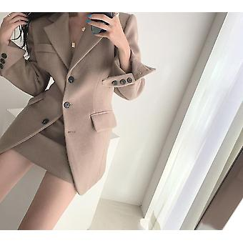 Winter Vintage Woolen Blazer + Skirts