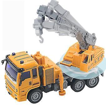 RC شاحنة الهندسة خلط كرين تفريغ سيارة نموذج ألعاب الأطفال عيد ميلاد عيد الميلاد الهدايا (الأصفر)