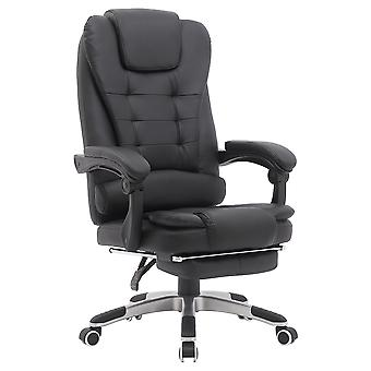 Office Chair Computer High Back Adjustable Ergonomic Desk Chair Executive PU Leather Swivel Task Chair with Armrests Lumbar Support