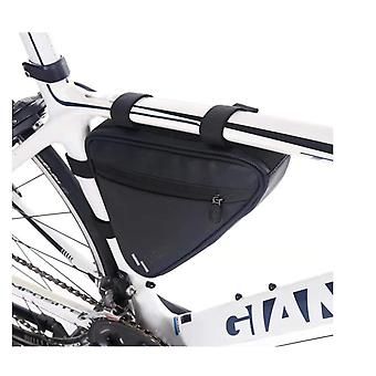 دراجة الإطار الأمامي حقيبة تخزين MTB ركوب الدراجات ركوب ماء مثلث القضية (أسود)