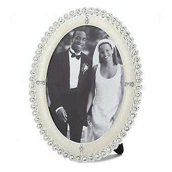 Accent Plus Oval Rhinestone Photo Frame - 5x7, Pack of 1