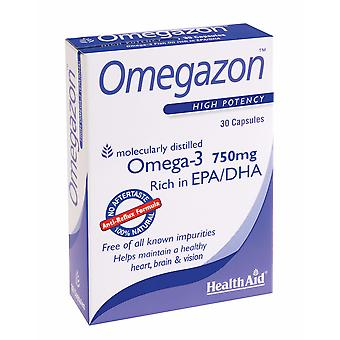 Health Aid Omegazon (Omega 3 Fish Oil) - Blister Pack, 30 Capsules