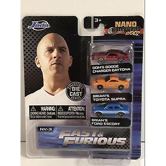 Fast and Furious Nano Hollywood Rides 3 Pack Série 1 Jada 31124