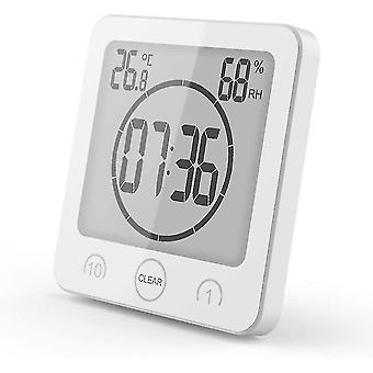 Household thermometers bathroom clock timer bathroom thermometer waterproof hygrometer bathroom makeup kitchen white