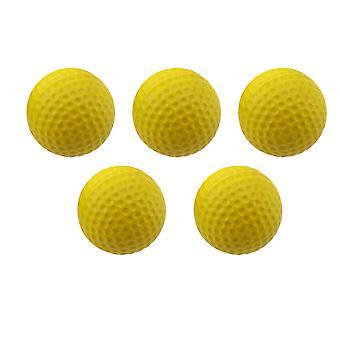 5 stuks zachte ballen binnen oefenballen hoge elastische ballen outdoor training aid ballen (geel)