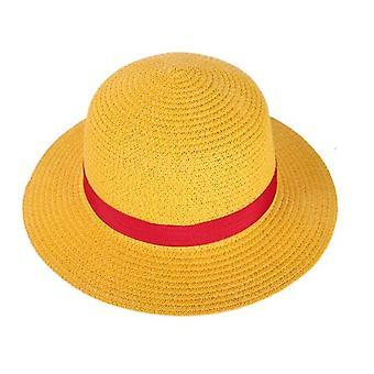 لوفي سترو قبعة قطعة واحدة Cosplay كاب أنيمي الشمس شاطئ القبعات هالوين الأداء زي