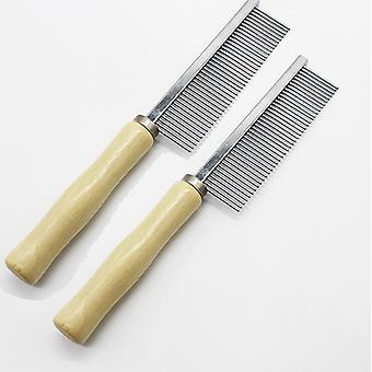 Masivní dřevěná rukojeť Pet Comb Metal-2 Dřevěná rukojeť