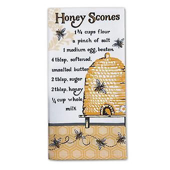 Bee Hive Honey Scones Recipe Flour Sack Kitchen Dish Towel Cotton