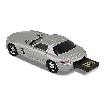 Officiella Mercedes Benz SLS AMG bil USB-minne 16Gb - Silver