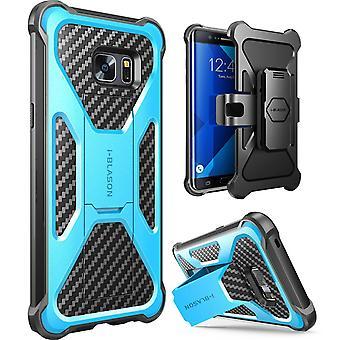 i-Blason-Galaxy Note 7 Case-Transformer Dual Layer Case-Blue