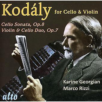 Z. コダーイ - チェロ ・ ヴァイオリン [CD] USA 輸入の Kod Ly