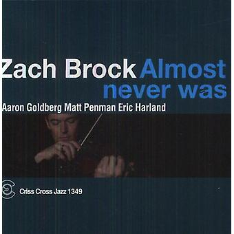 Zach Brock - Almost Never Was [CD] USA import