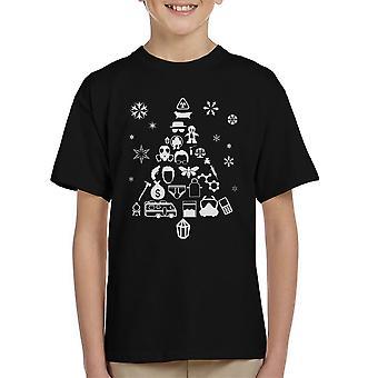 Breaking Bad Christmas Tree Silhouette White Kid's T-Shirt