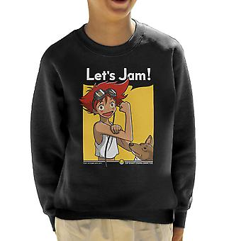 Jamming With Edward Cowboy Bebop Kid's Sweatshirt