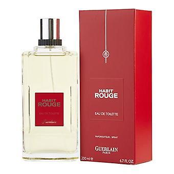 Habit Rouge esittäjä(t): Guerlain miehet 6,7 oz Eau De Toilette Spray