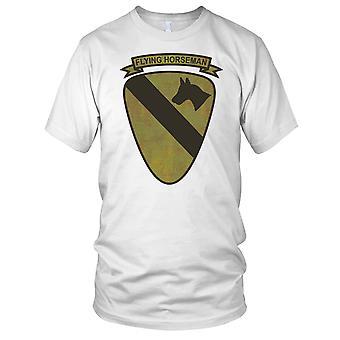 US Army 1st Cavalry Flying Horseman Grunge Effect - Vietnam War Mens T Shirt
