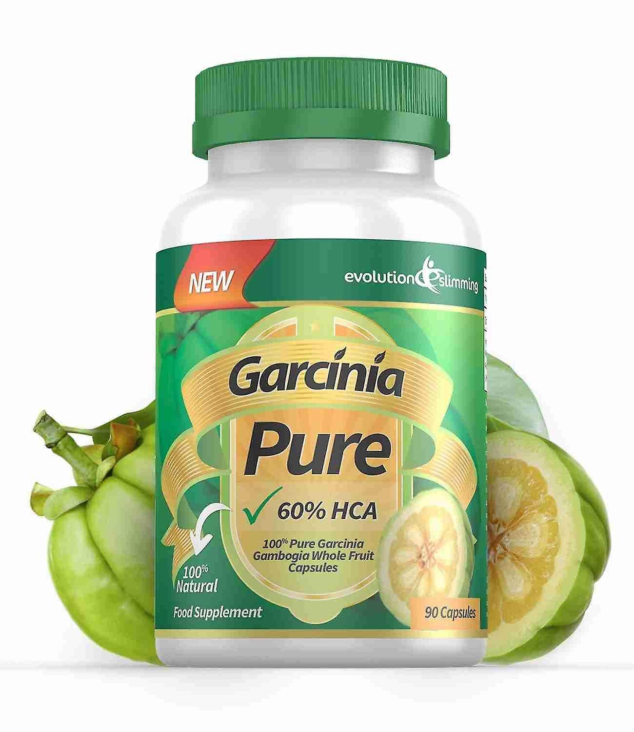 Garcinia Pure 100% Pure Garcinia Cambogia 1000mg 60% HCA - 1 Month Supply - Fat Burner and Appetite Control - Evolution Slimming