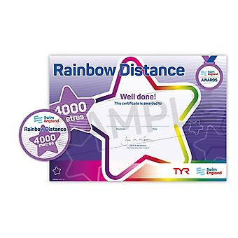 ASA Swim England Rainbow Distance Swimming Award - 4000M