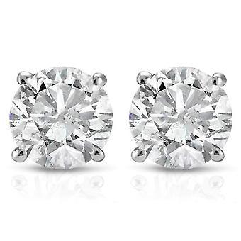 3 / 4ct Diamant Ohrstecker 14K White Gold