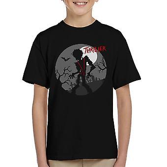 Michael Jackson Thriller kyrkogård siluett Kid's T-Shirt