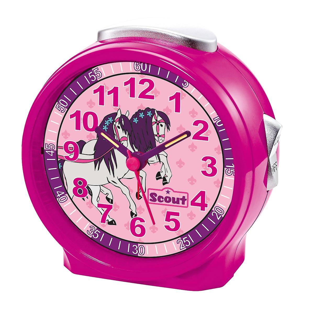 Scout meisjes wekker alarm meisje van vrienden roze paard 280001071