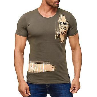 À manches courtes hommes impression O-Neck T-Shirt mur