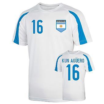 Argentina sport Training Jersey (kun Aguero 16)