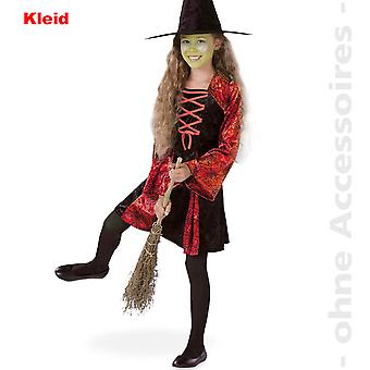 Hexenkostüm Hexe Zauberin Kinder Magie Kostüm Hexenkleid Kinderkostüm