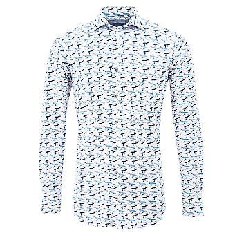 Tresanti Whales Print Mens Shirt