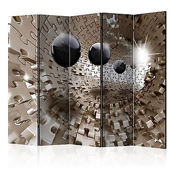 Paravent 5 volets - Golden Jigsaw II [Room Dividers]