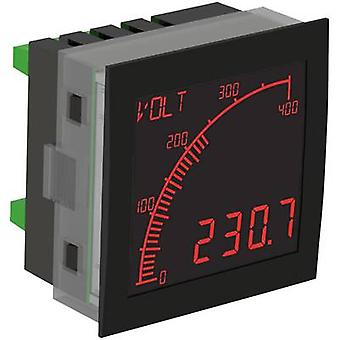 Digital rackmontert meter Trumeter APM-PROC-ANO The APM prosessen måleutstyr, negative LCD montering dimensjoner 68 x 68 mm