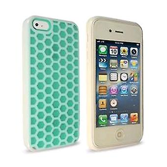 Technocel honingraat Case voor Apple iPhone 5/5s-turkoois/wit