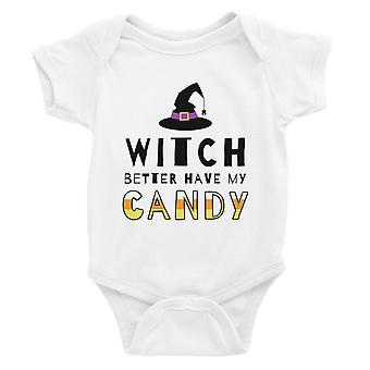Hexe haben besser meine Candy Baby Bodysuit Geschenk weiß